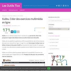 Kubbu. Créer des exercices multimédia en ligne