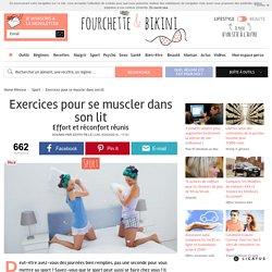 Exercices pour se muscler dans son lit