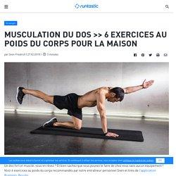 6 exercices de musculation pour le dos à faire à la maison