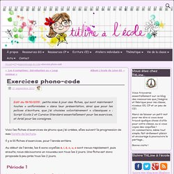 Exercices phonologie code au CP