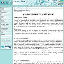Nouveaux exercices de réécriture - Collège Alexandre Dumas