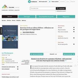Exercices écrits et cahiers d'élèves: réflexions sur des pratiques de longue durée