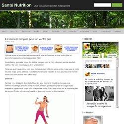4 exercices simples pour un ventre plat