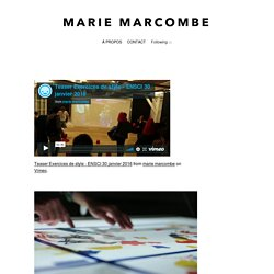 EXERCICES DE STYLE - Marie Marcombe
