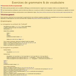 Exercices de Grammaire et de Vocabulaire:Index