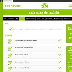 Exercicis de català per Sara Marugan: Exercicis
