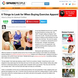6 Things to Look for When Buying Exercise Apparel
