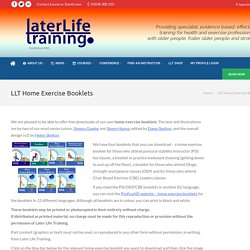 LLT Home Exercise Booklets - Later Life Training