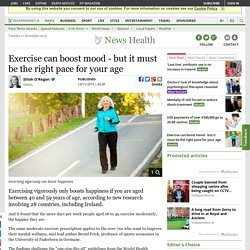 Exercise can boost mood - but it must be the right pace for your age