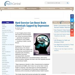 Hard Exercise Can Boost Brain Chemicals Sapped by Depression