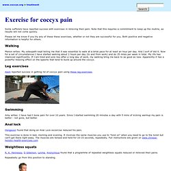 Exercise for coccyx pain