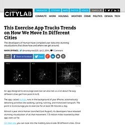 This Exercise App Tracks Trends on How We Move In Different Cities