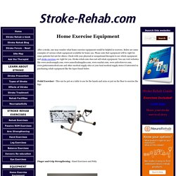 Home Exercise Equipment For Stroke Patients