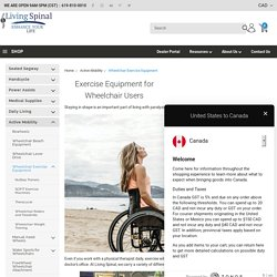 Get Paralysis Exercise Equipment Online by Living Spinal