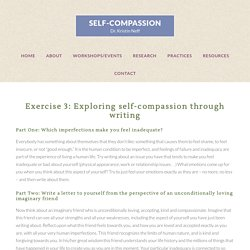 Exercise 3: Exploring self-compassion through writing