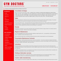 Exercise and Fitness Equipment Service and Repair