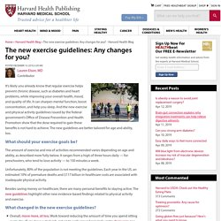 The new exercise guidelines: Any changes for you?
