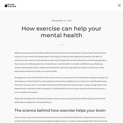 How exercise can help your mental health - The Warehouse Bali