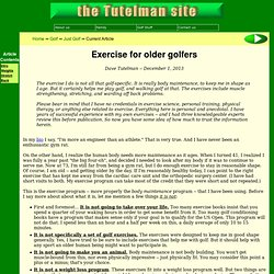Exercise for older golfers
