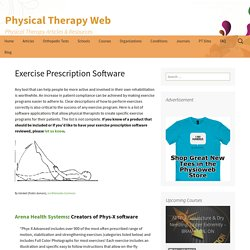 Exercise Prescription Software - Physical Therapy Web