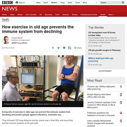 How exercise in old age prevents the immune system from declining