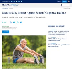 Exercise May Protect Against Seniors' Cognitive Decline