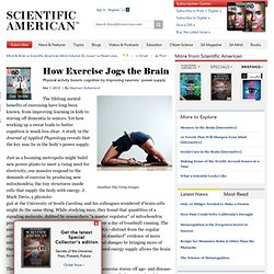 How Exercise Jogs the Brain