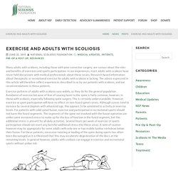 Exercise and Adults with Scoliosis – National Scoliosis Foundation