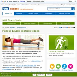 NHS Fitness Studio - Free exercise videos
