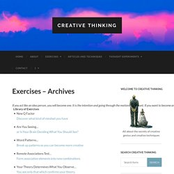 Exercises – Archives