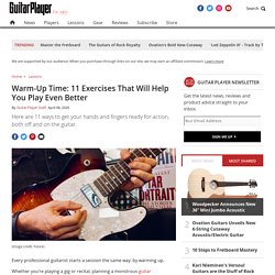 Warm-Up Time: 11 Exercises That Will Help You Play Even Better