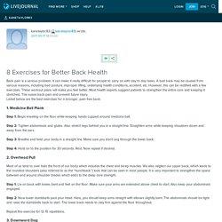 8 Exercises for Better Back Health: kanetaylor83