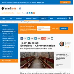 Team-Building Exercises: Communication - From MindTools.com