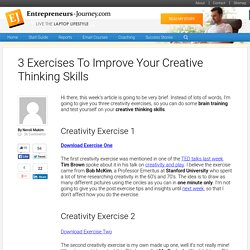 3 Exercises To Improve Your Creative Thinking Skills