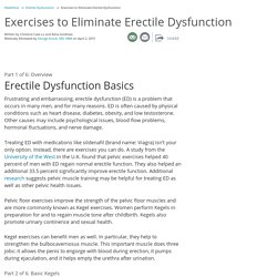 Exercises to Eliminate Erectile Dysfunction