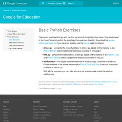 Basic Python Exercises - Educational Materials