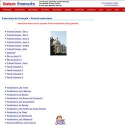 French exercises - Exercices de français