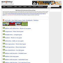Math Games and Fun Exercises for Second Grade, Fun Games for First Graders and First Grade Math Pratice