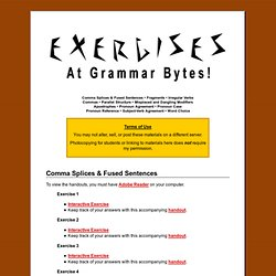 Exercises at Grammar Bytes!