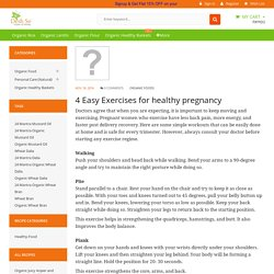 4 Easy Exercises for healthy pregnancy