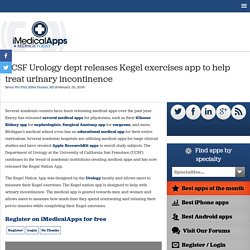 UCSF Urology dept releases Kegel exercises app to help treat urinary incontinence
