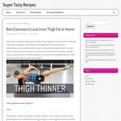 Best Exercises to Lose Inner Thigh Fat at Home