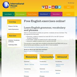 Free Online Lessons in English Grammar, Vocabulary and Phrases