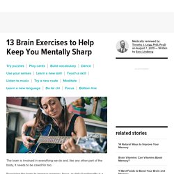 Brain Exercises: 13 Ways to Boost Memory, Focus, and Mental Skills