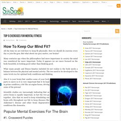 Top 5 Exercises For Mental Fitness