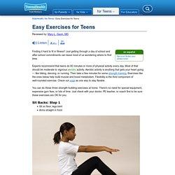 Easy Exercises for Teens (for Teens) - KidsHealth