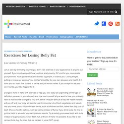 Exercises for Losing Belly Fat