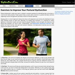 Exercises to Improve Your Postural Dysfunction
