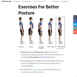 Exercises For Better Posture - Corrective exercises to fix bad posture