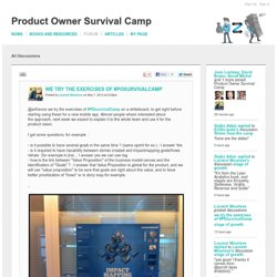 we try the exercises of #POsurvivalCamp - Forum - Product Owner Survival Camp